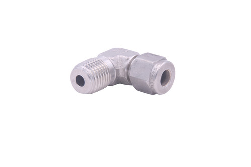 "1/4"" TB X 1/4"" MNPT, 90 Degree, Swagelock Fitting"