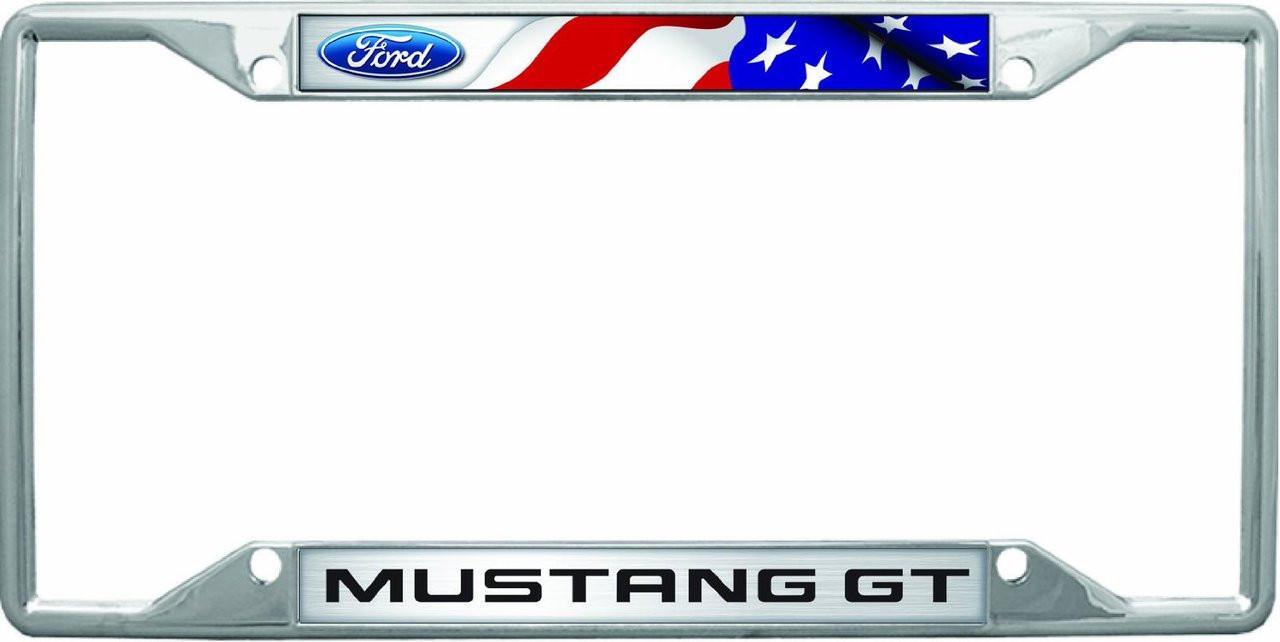 Mustang GT Flag License Frame