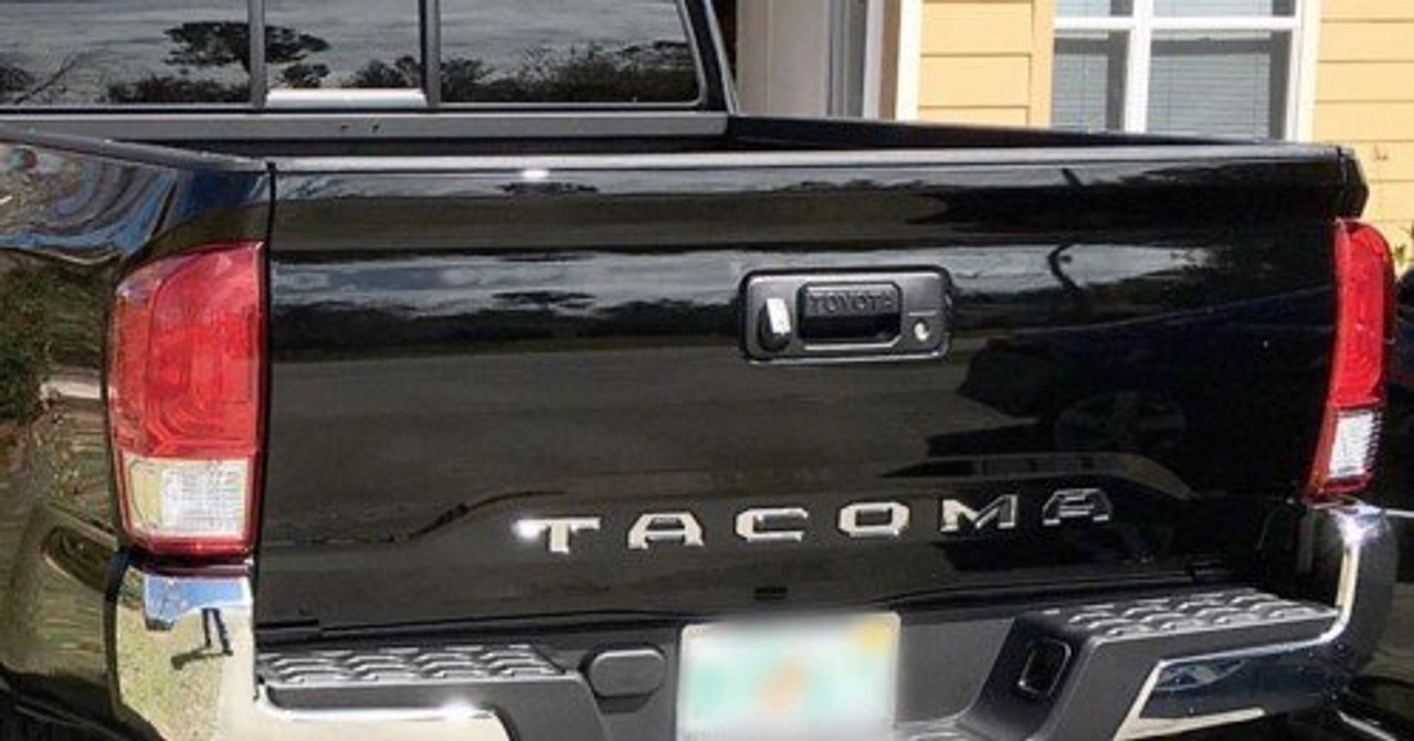 Toyota Tacoma Chrome Tailgate Letters (chrome letters)