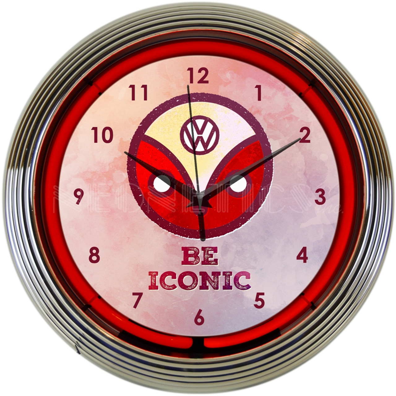 VW Be Iconic Neon Clock