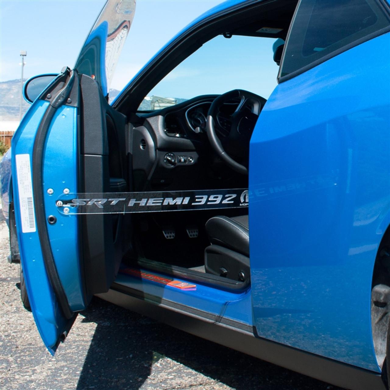 Dodge Laser Engraved Logo Acrylic Door Props