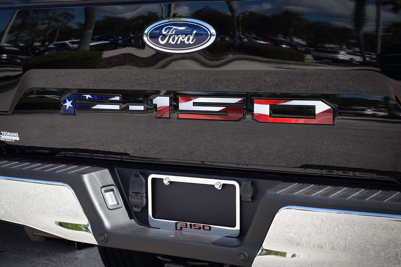 Ford 18-up F-150 Tailgate Letter Kit (USA Flag Colors)