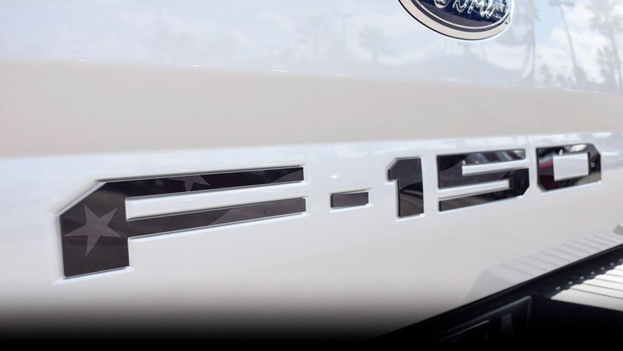Ford 18-up F-150 Tailgate Letter Kit (Black/Gray USA Flag)