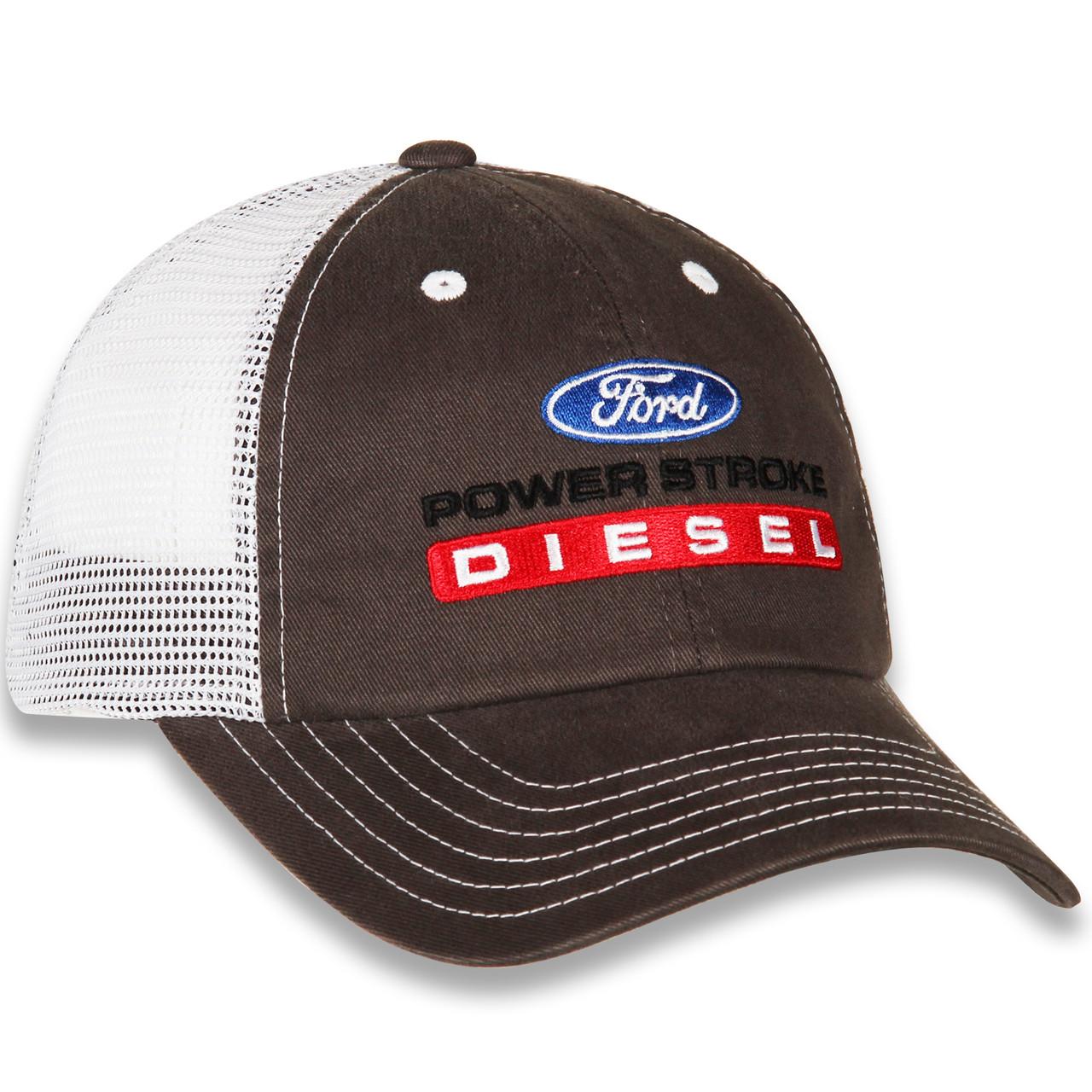 Ford Power Stroke Diesel Gray & White Mesh Hat (right)