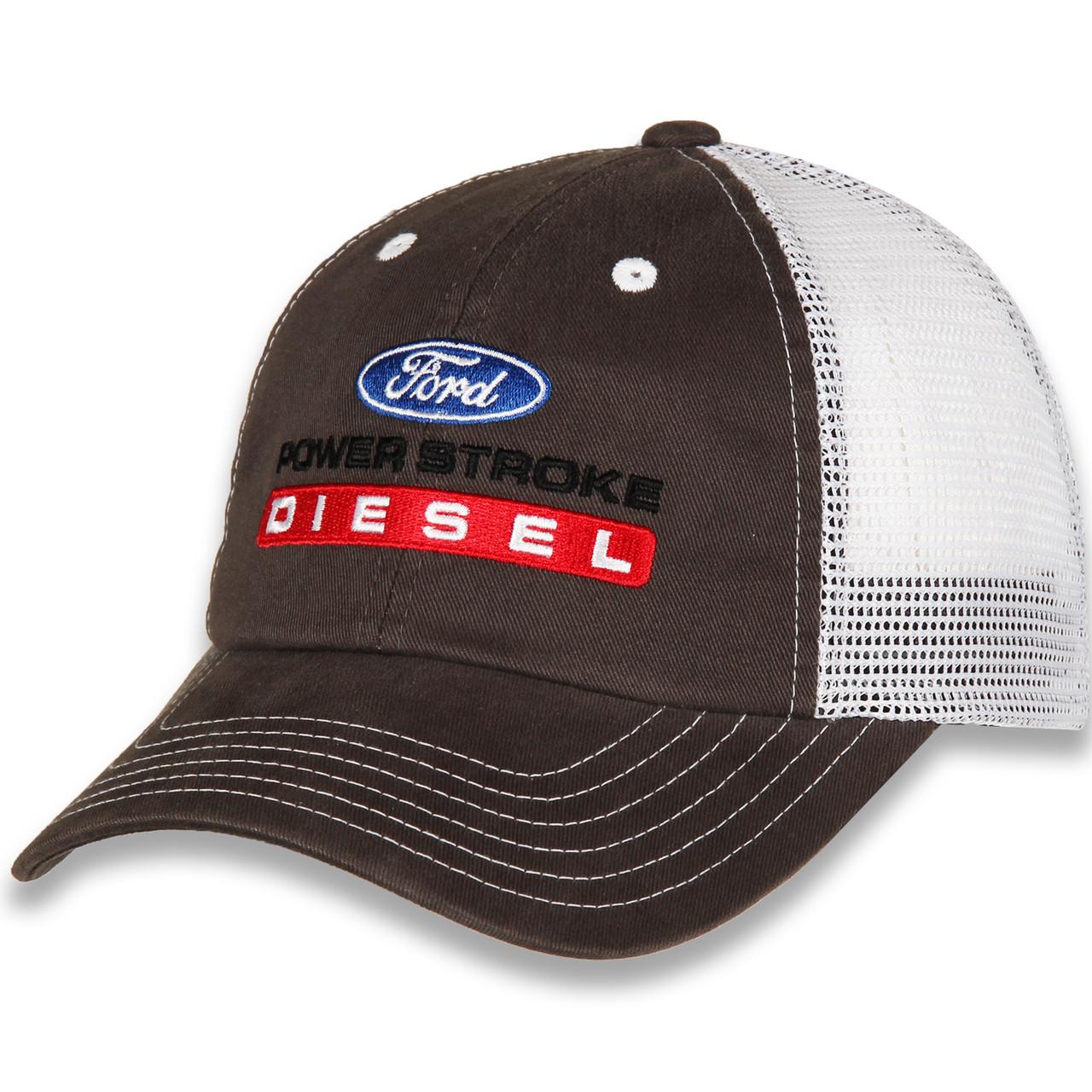 Ford Power Stroke Diesel Gray & White Mesh Hat(left)