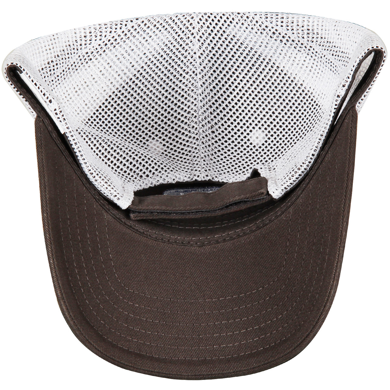 Ford Power Stroke Diesel Gray & White Mesh Hat (under)