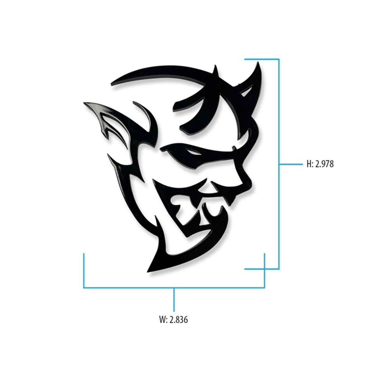 Dodge Demon Cutout Badge Auto Gear Direct