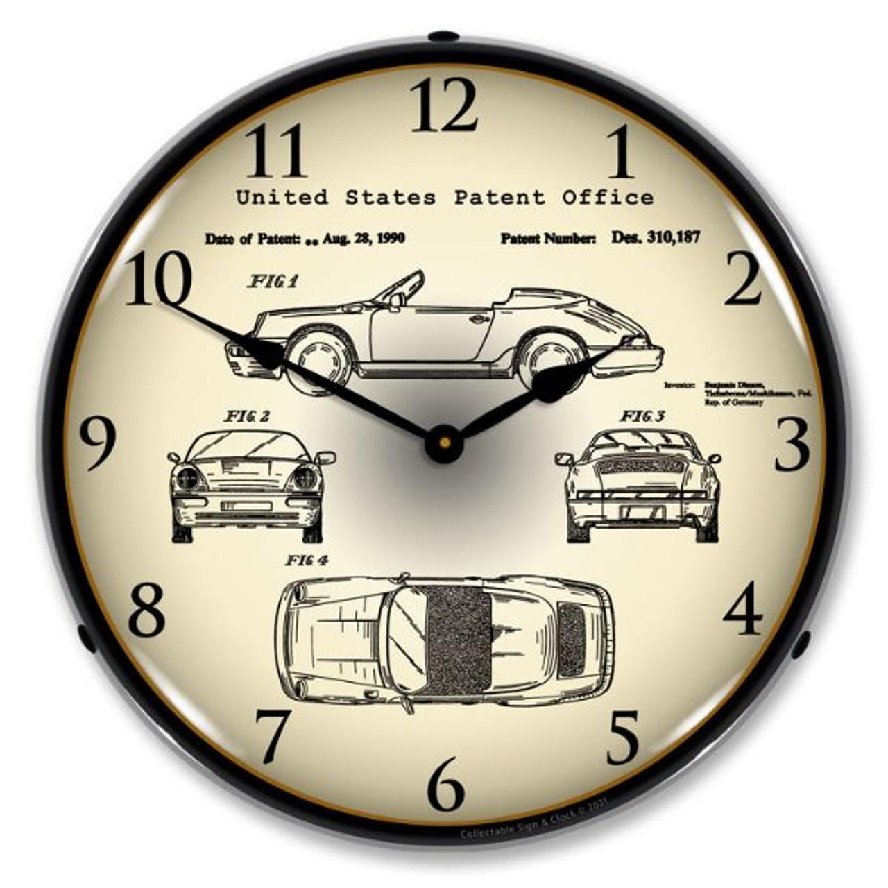 Porsche 911 1990 Patent LED Backlit Clock