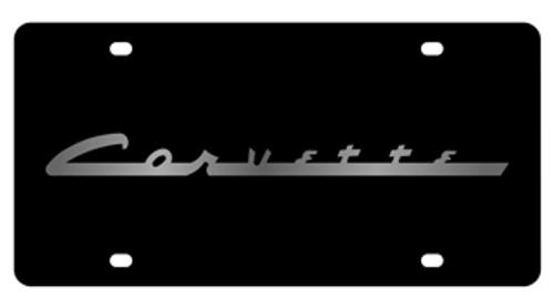 Corvette Black License Plate