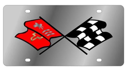 Corvette Mirror License Plate