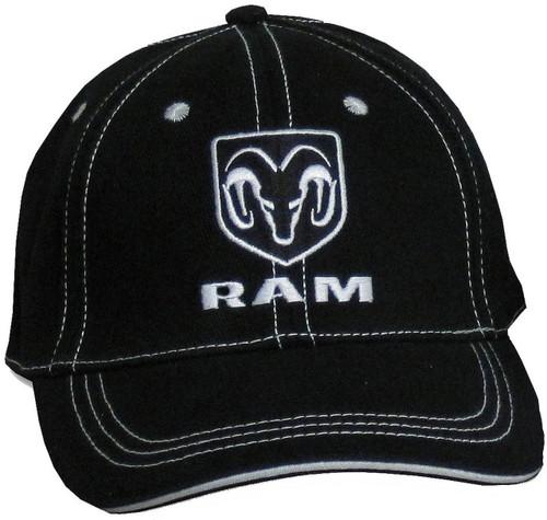 Dodge Hemi Black and White Mesh Hat