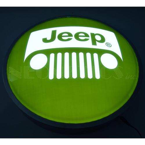 Jeep Grille Backlit Sign alt