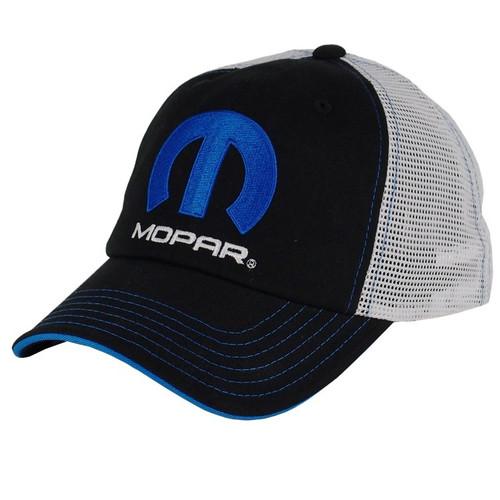 Mopar Black/White Mesh Hat alt