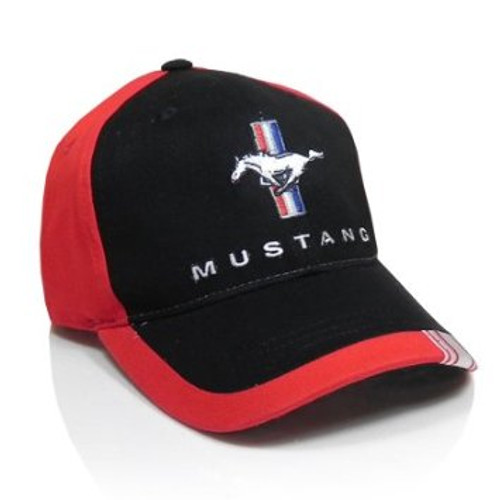 Mustang Black & Red Hat