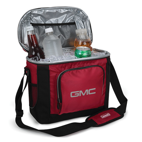 GMC Black & Red Coleman Cooler Bag open