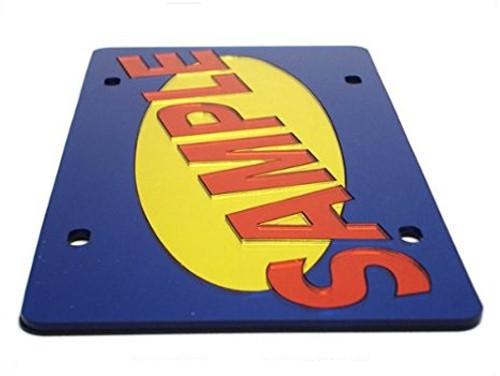 Sample Acrylic License Plate