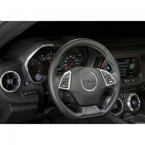 Camaro Billet Interior Knob Kit - CF Arctic Blue inside