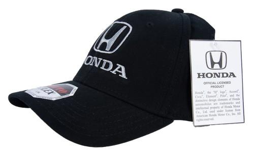 Honda Black Brushed Cotton Flex Hat - side