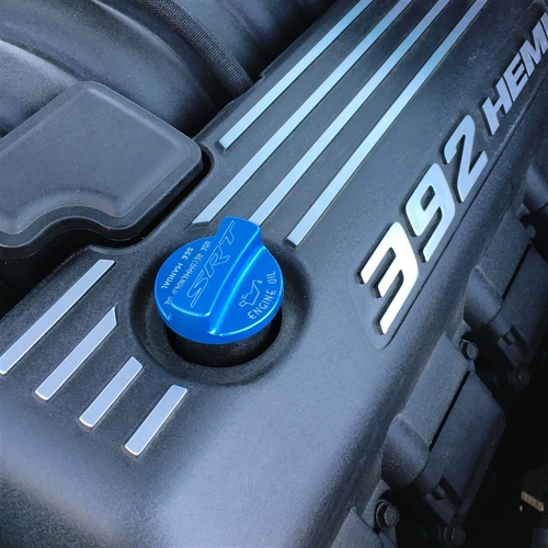 Dodge Challenger/Charger Billet Oil Cap Cover (on car)
