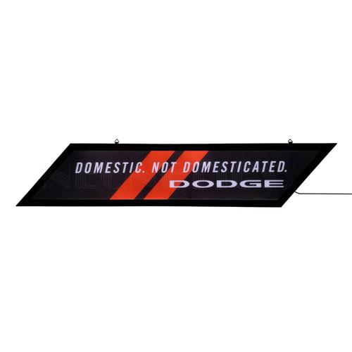Dodge Stripes Rhombus Slim LED Sign
