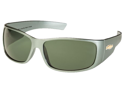 Gray Chevy Gold Bowtie Sunglasses - Gray/Green Tint