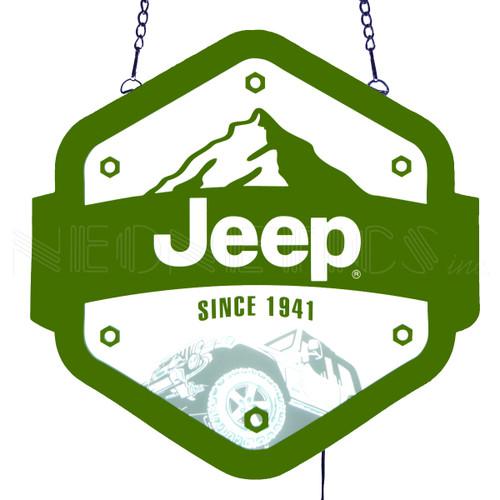 Jeep Since 1941 Slim LED Sign alt