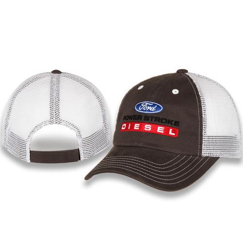 Ford Power Stroke Diesel Gray & White Mesh Hat