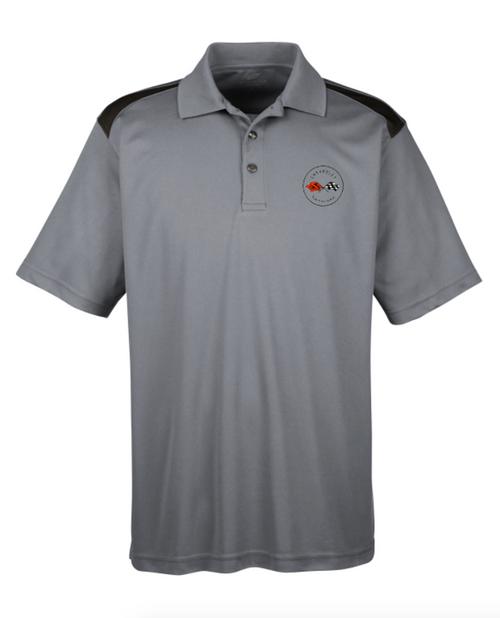 C1  Corvette Gray and Black Polo Shirt