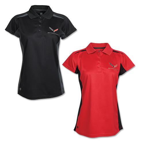 Women's C7 Corvette Stingray Stormtech Match Polo Shirt