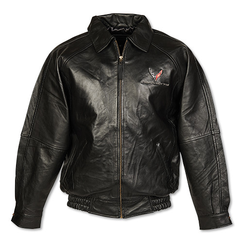 C8 Corvette Black Lambskin Jacket
