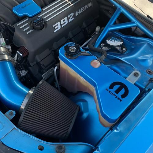 2015-Up Dodge Charger/Challenger Billet Reservoir Tank Cover (in car)