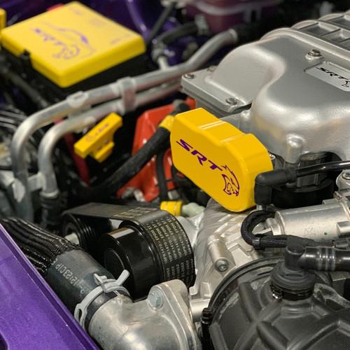 2015-Up Dodge Charger/Challenger Billet Throttle Body Cover (on car)
