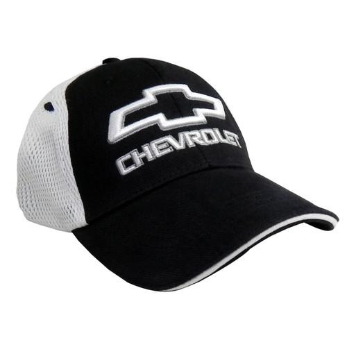 Chevy Bowtie Black Mesh Hat