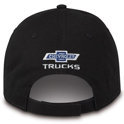 Chevy Trucks American Flag Tonal Black Hat (back)