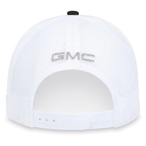 GMC Canyon Gray, Black and White Mesh Hat (back)