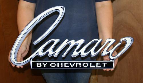 1968-1969 Camaro Deck Emblem Metal Sign alt