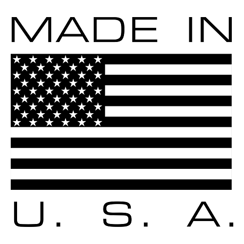 Made in USA with American Flag.
