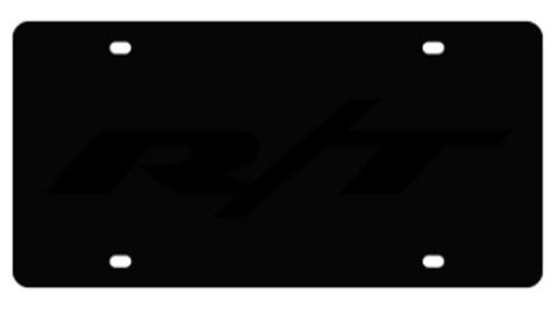 Dodge R/T Black License Plate alt