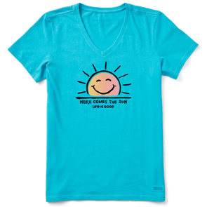 Life Is Good Here Comes the Sun Crusher Tee