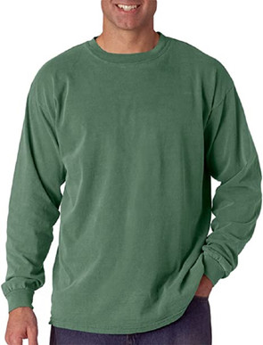 R. Options Long Sleeve Pigment Dyed Ringspun Cotton Tee