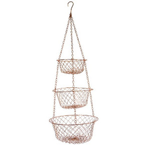 3 Tier Copper Hanging Basket