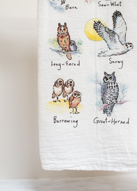 Owls Flour Sack Towel