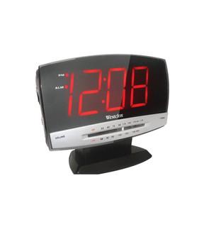 Westclox Plasma Alarm Clock, With AM/FM Radio, 1.8 In Digital, Red LED Display