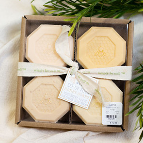 SIMPLY be well Honey Soap, Set of 4