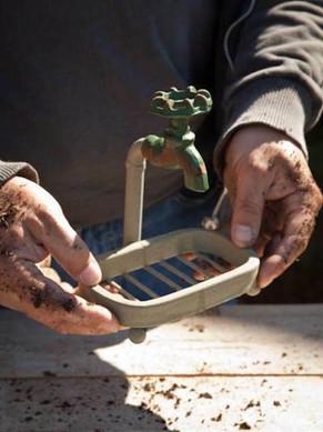 Gardener's Faux Faucet Soap Dish