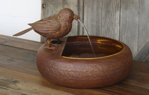 Folk Art Little Bird Fountain Park Hill Collection WX4610