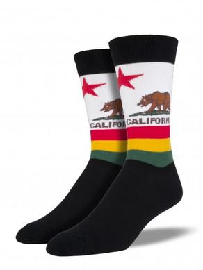 Men's California Bear Socks, SSM1247-SockSmith