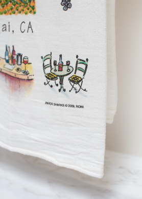 World of Wine Flour Sack Towel RS120