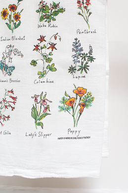 Wild Flowers, Flour Sack Towel RS116