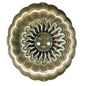 Sun Face Large Antique Gold 101103002